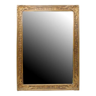 Antique Wood Mirror
