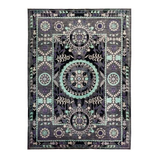 """Suzani Hand Knotted Area Rug - 10' 2"""" X 13' 8"""""""