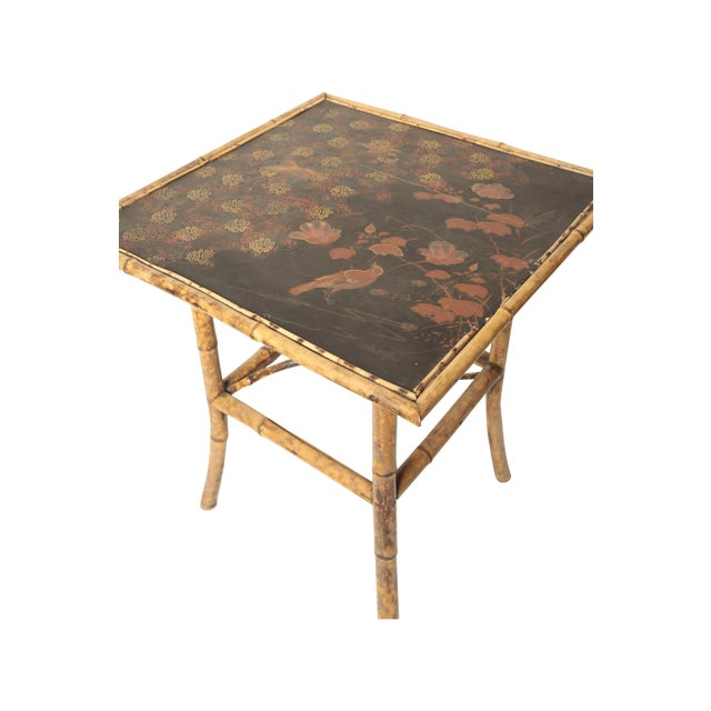 Victorian Bamboo Side Table - Image 3 of 4