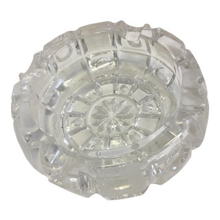 Vintage Cut Glass Crystal Ashtray