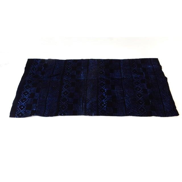 Mali Indigo Mud Cloth Textile - Image 4 of 4