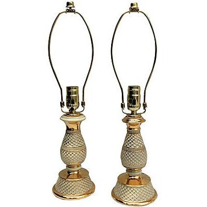 Image of Italian Porcelain Lamps - A Pair