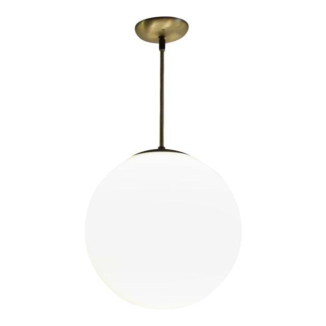 Vintage Mid-Century Globe Pendant Light - Image 1 of 4