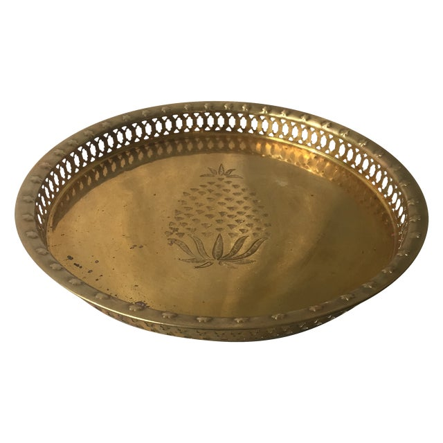 Brass Pineapple Tray - Image 1 of 6