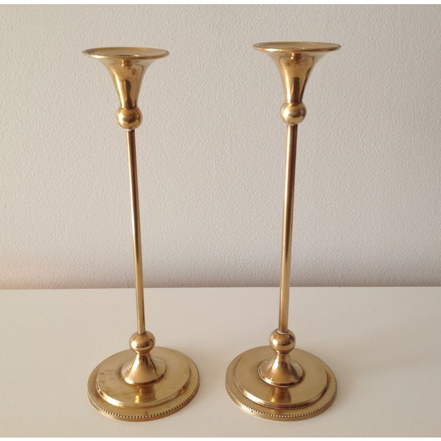 Image of Brass Foundry Candle Holders - a Pair