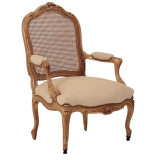 French Gilt Wood Armchair
