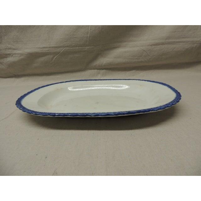 Antique Blue & White Ironstone English Platter - Image 3 of 5