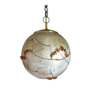 Mid-Century Globe Swag Lamp