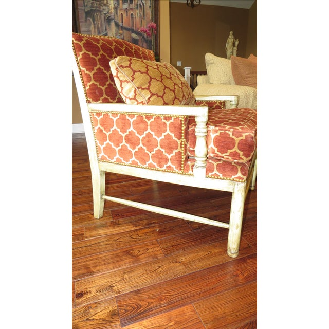 Orange Quatrefoil Living Room Chair Chairish