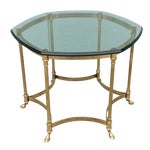 Image of Vintage La Barge Octagonal Brass Side Table