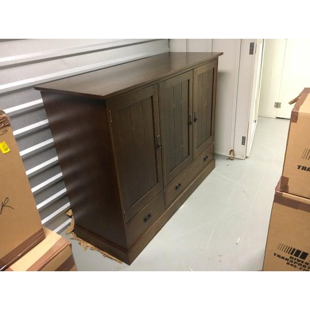 Stickley Oak Entertainment Cabinet - Image 4 of 5