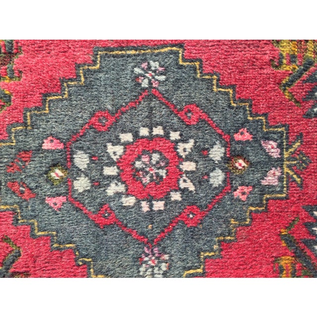 "Vintage Red Anatolian Persian Rug - 1'9"" x 3'3"" - Image 5 of 8"