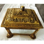 Image of Decorative Gold Mirrored Storage Container