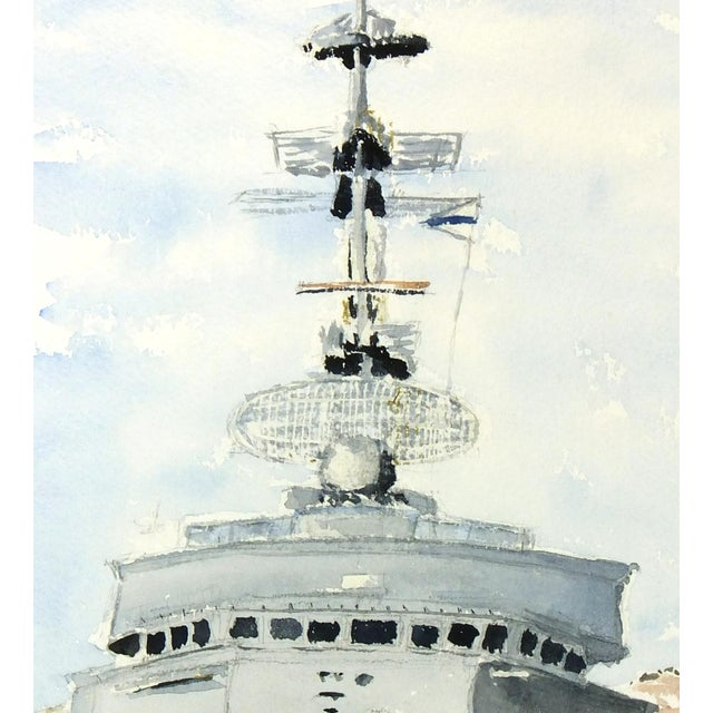 Watercolor Painting, Anti-Aircraft Frigate - Image 3 of 4