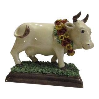 Vintage R. Costa Capodimonte Painted Cow