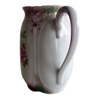 White German Pitcher With Rose