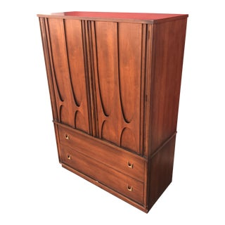 Mid-Century Broyhill Brasilia Bentwood High Boy Dresser