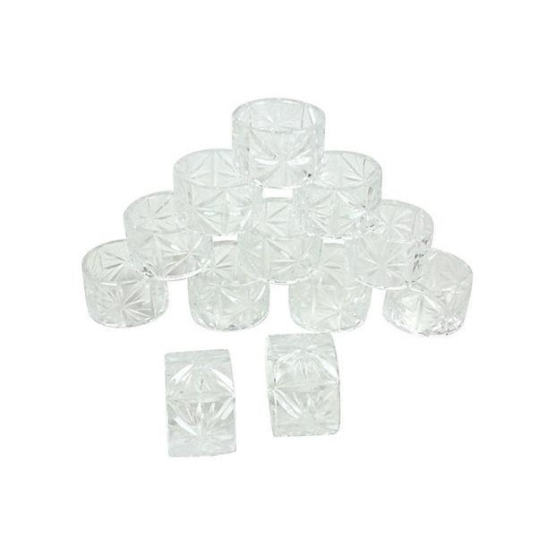 Image of Crystal Napkin Rings - Set of 12