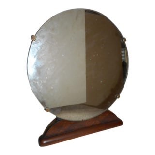 Vintage Shaving Wood Vanity Mirror