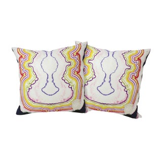 Happy Hour Linen Pillows - A Pair