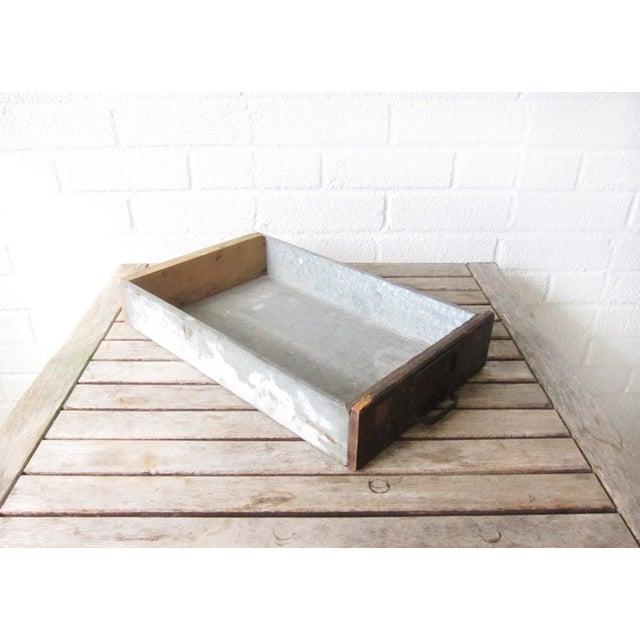 Vintage Rustic Wood & Metal Drawer Box - Image 4 of 6