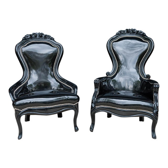 Luxe Regency King and Queen Chairs - Image 1 of 11