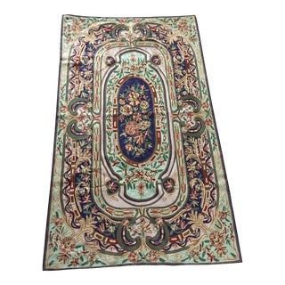 Intricately Embroidered Rug - 2′10″ × 4′10″