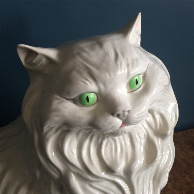 Image of White Ceramic Cat