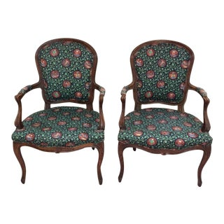 Antique French Armchairs - A Pair
