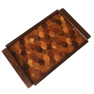 Don Shoemaker Cocobolo Op Art Tray