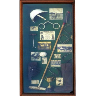 Vintage Polo Memorabilia Shadow Box