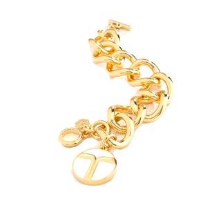 Trina Turk Gold Link Toggle Bracelet in White