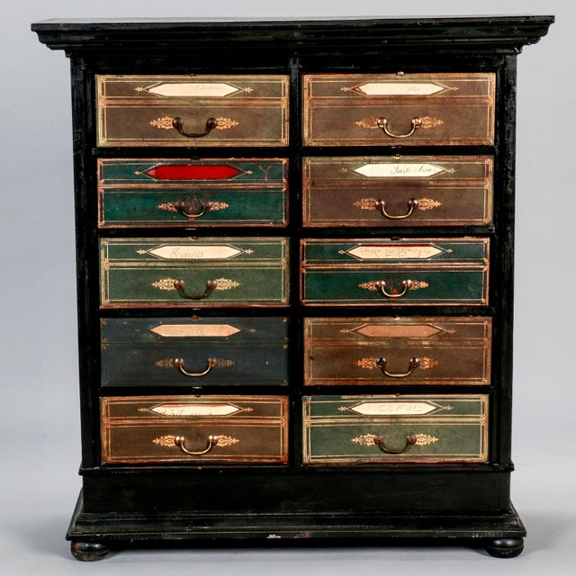 Late 19th Century Antique French Ebonized Oak Linen Chest - Image 2 of 8