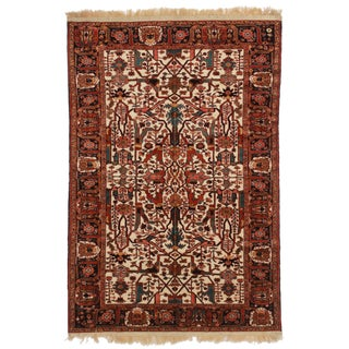 RugsinDallas Hand Knotted Wool Fine Persian Joshan Rug - 4′2″ × 6′2″