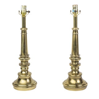 Stiffel Mid-Century Modernist Brass Lamps - A Pair