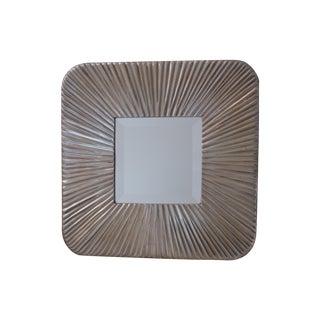 Antiqued Silver Sunburst Mirror