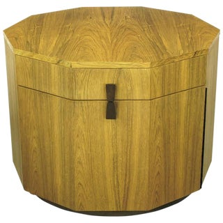 Rare Harvey Probber Decagonal Bleached Rosewood Bar Cabinet