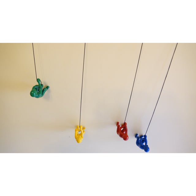 Multicolor Climbing Man Wall Art - 4 Pieces - Image 9 of 9