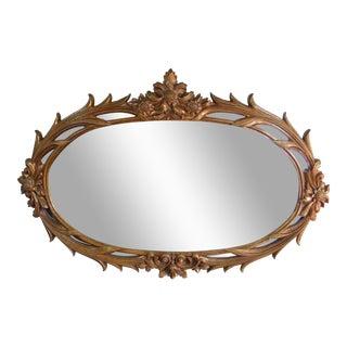 Bronze Toned Floral Mirror