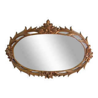 Bronze Toned Floral Mirror