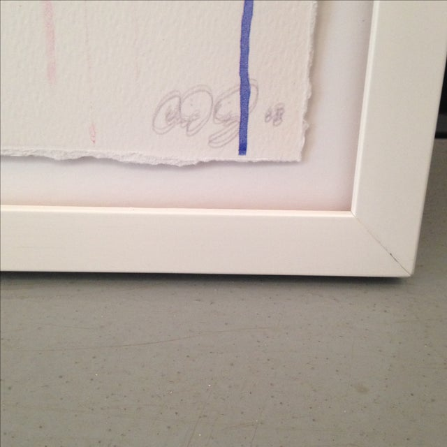 Original Abstract Pastel Watercolor Painting - Image 3 of 5