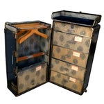 Image of Antique Hartmann Cushion Top Wardrobe Trunk
