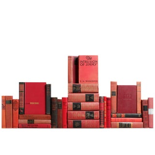 Red & Black Antique Classic Books - Set of 30