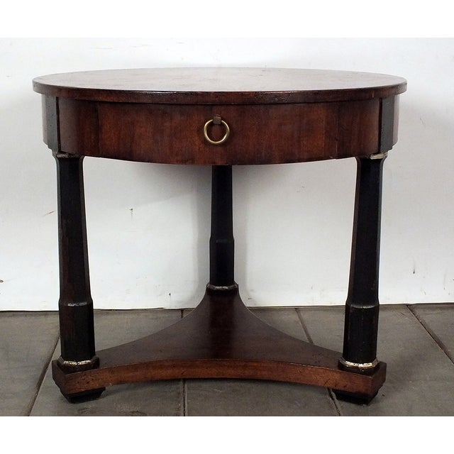 1950s Regency Style Round Side Table - Image 2 of 8