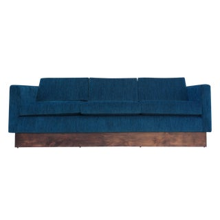 Mid-Century Style Floating Sofa in Teal