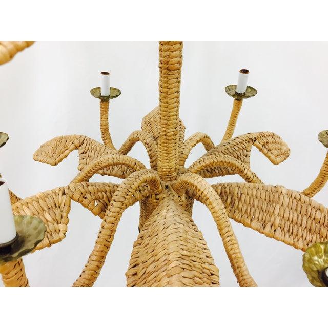 Mario Lopez Torres Palm Leaf Chandelier - Image 10 of 11