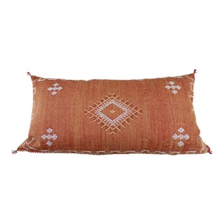 Burnt Orange Moroccan Sabra Cactus Lumbar Cushion