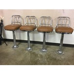 Image of Chrome Soda Fountain Bar Stools - Set of 4