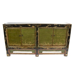 Chinese Green Sideboard