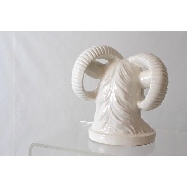 Blanc De Chine Ram Head Sculpture - Image 3 of 5